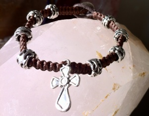 A simple cross bracelet.