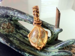 Basket wrapped Citrine